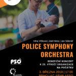Benefiční koncert Police Symphony Orchestra plakát